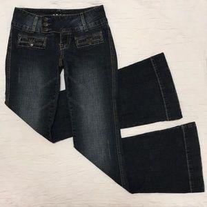 Size 1/2 flare leg jeans